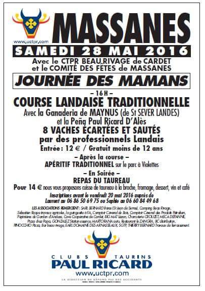 affiche course landaise